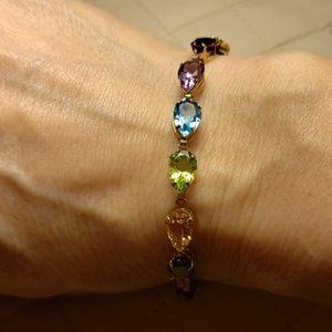 Jewelry - NEW-STUNNING 10K & GENUINE GEMSTONE BRACELET